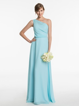 Ericdress Beautiful One Shoulder A Line Long Bridesmaid Dress