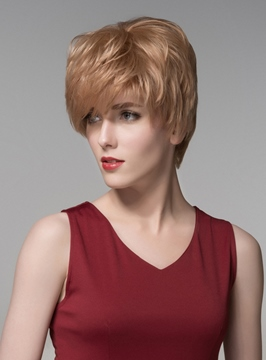 Ericdress New Layered Short Straight Capless Human Hair Wig 6 Inches
