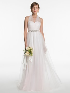 Ericdress Beautiful Halter A Line Bridesmaid Dress