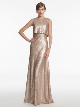Ericdress Beautiful Jewel Sequins Bridesmaid Dress