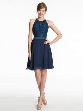 Ericdress Beautiful Jewel Lace Short Bridesmaid Dress
