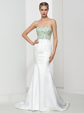 Ericdress Trumpet Sweetheart Beading Evening Dress