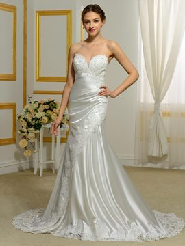 Ericdress Sweetheart Appliques Beading Mermaid Wedding Dress