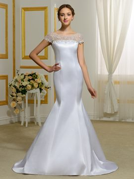 Ericdress High Quality Sheer Back Mermaid Wedding Dress