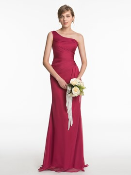Ericdress One-Shoulder Mantel lange Brautjungfer Kleid