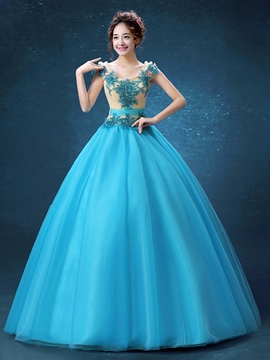Robe de bal Ericdress Scoop applications perles dentelle robe de Quinceanera