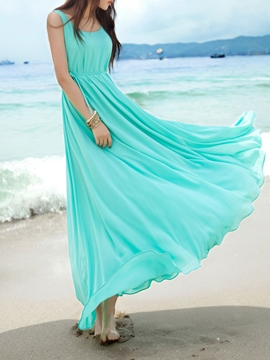 Ericdress solide couleur extension Maxi robe