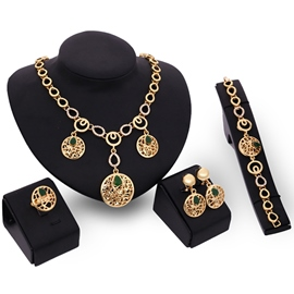 Ericdress Diamante Plate Design Jewelry Set