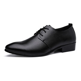 Ericdress Pointed Toe Lace up Square Heel Men's Oxfords