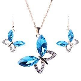 Ericdress Exaggerate Butterfly Crystal Jewelry Set
