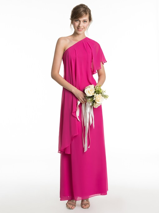 Ericdress Beautiful One Shoulder A Line Bridesmaid Dress