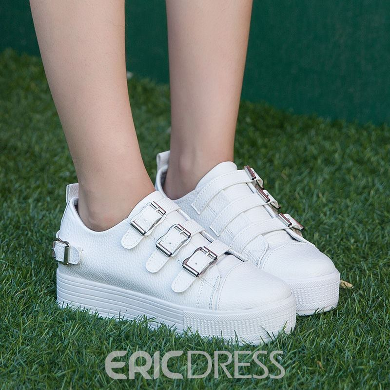 Ericdress Delicate Buckles Canvas Shoes