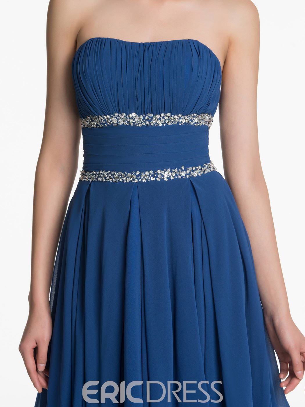 Ericdress Charming Strapless High Low Bridesmaid Dress