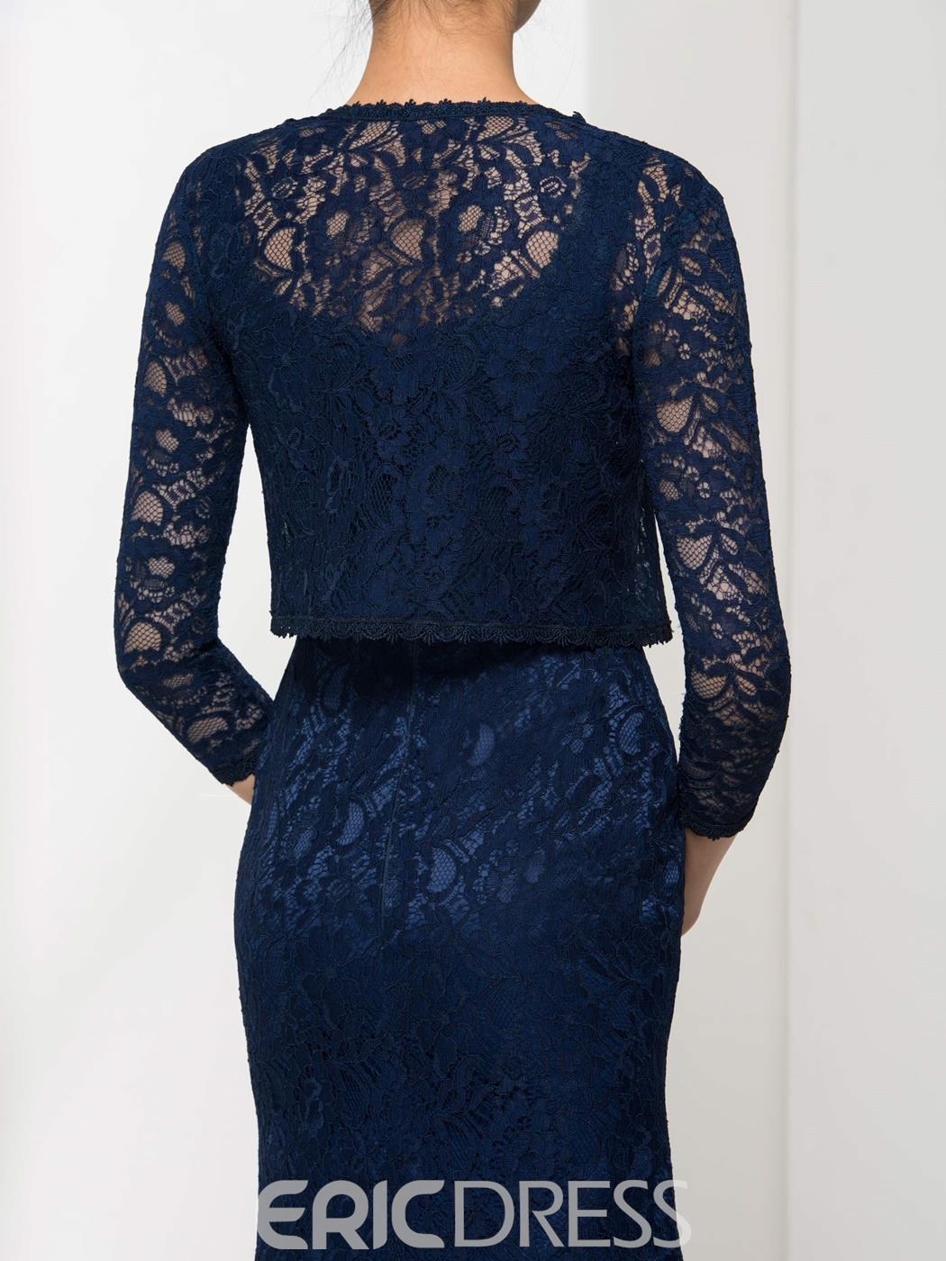 Ericdress Elegant Straps Lace Mother Of The Bride Dress With Jacket