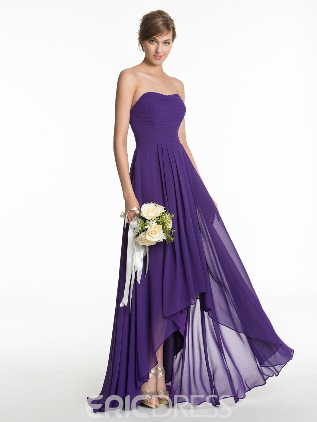 Ericdress Casual Sweetheart High Low Bridesmaid Dress