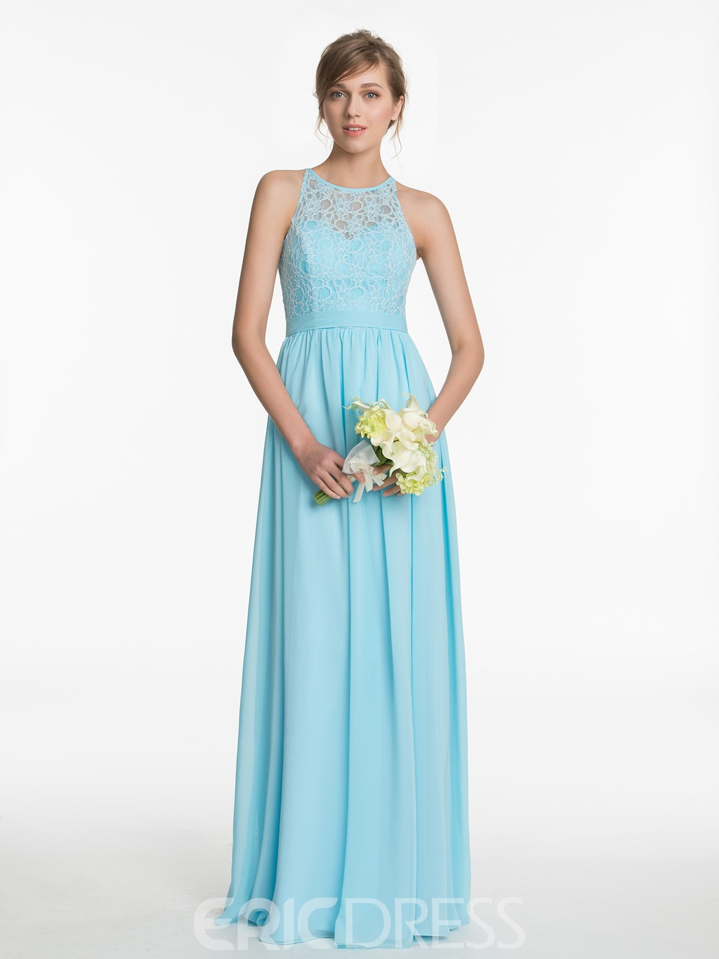 Ericdress Beautiful Lace A Line Long Bridesmaid Dress