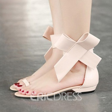 Ericdress Big Flower Toe Ring Flat Sandals
