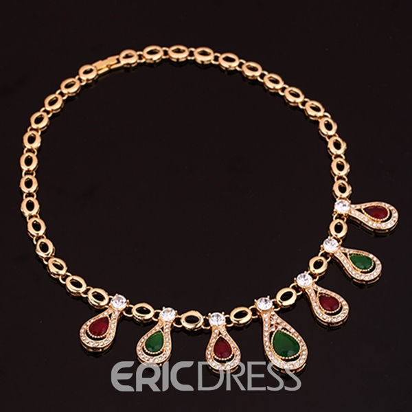 Ericdress Noble Water Drop Rhinestone Jewelry Set