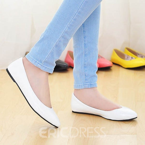 Ericdress Candy Color Pu Flats