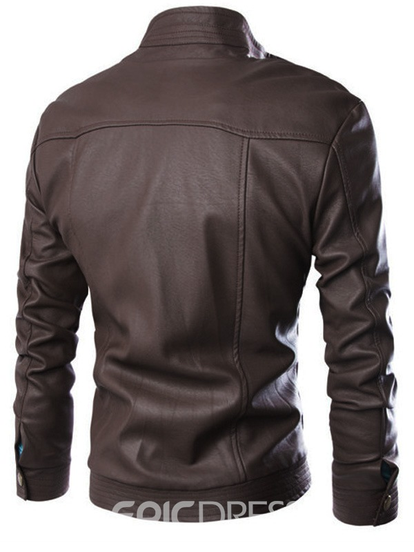 Ericdress Plain Plus Size Zipper Men's Jacket