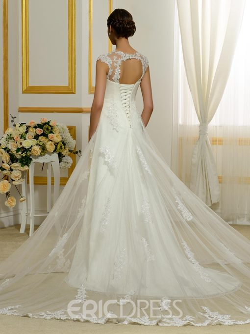 Ericdress Fancy Appliques A Line Wedding Dress