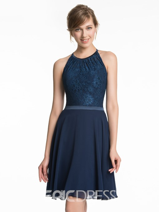 Ericdress A-Line Lace Short Bridesmaid Dress