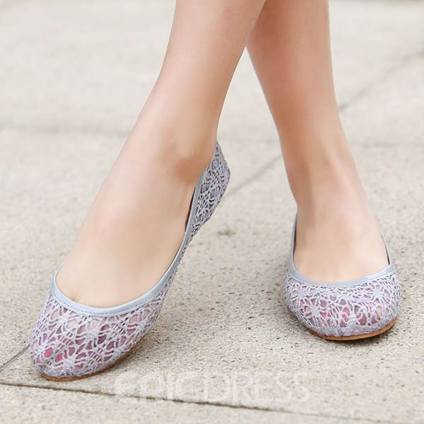 Ericdress Lace Cut Out Flats