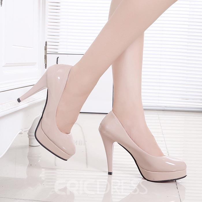 Ericdress Sweet PU Platform Stiletto Heel Pumps