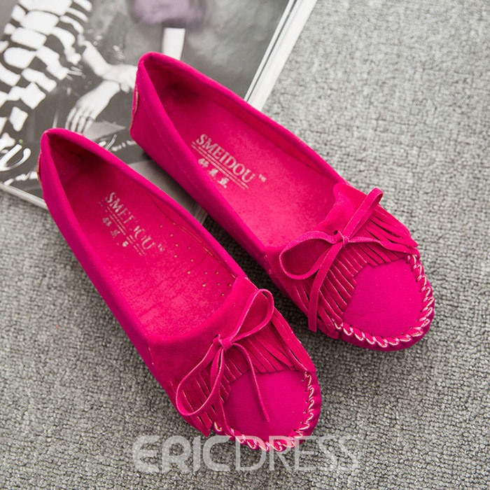 Ericdress Bright Tassels Loafers
