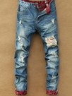 Ericdress Holes Denim Casual Men's Jeans