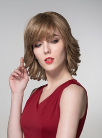 Ericdress Layered Medium Charming Human Hair Capless Wig 14 Inches
