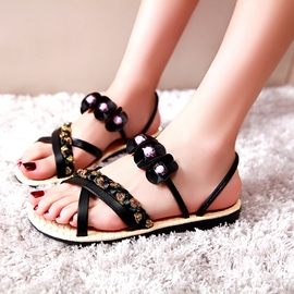 Ericdress Applique Slingback Flat Sandals