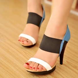Ericdress Fashion Patchwork Stiletto Sandals