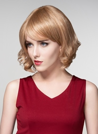 Ericdress Wavy Short BOB Human Hair Capless Wigs 12 Inches