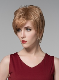 Ericdress Fluffy Short Straight Capless Human Hair Wig 6 Inches
