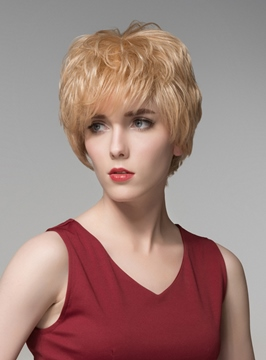 Ericdress Fashionable Layered Short Straight Capless Human Hair Wig 6 Inches