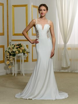 Ericdress Sexy Sheer Back Mermaid Wedding Dress
