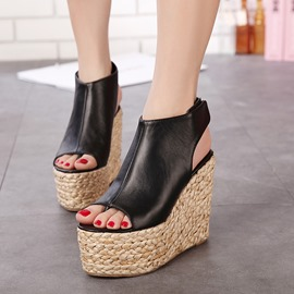 Ericdress Bohemian Kintting Wedge Sandals