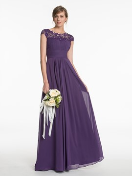 Ericdress Cap Sleeve Beading Lace Bridesmaid Dress