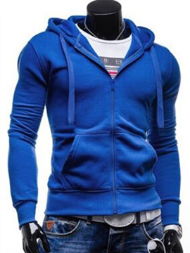 Ericdress Street Style Plain Casual Men's Hoodie