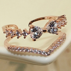 Ericdress Bowknot Diamante Engagement Ring