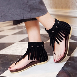Ericdress Fringe Clip Toe Flat Sandals