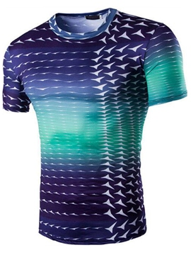 Ericdress Print Gradient Slim Men's T-Shirt