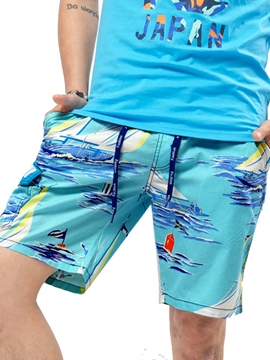 Ericdress Large Size Print Casual Loose Men's Shorts
