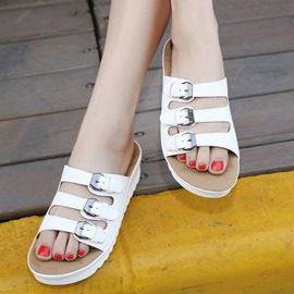 Ericdress Chic Pu Flat Sandals