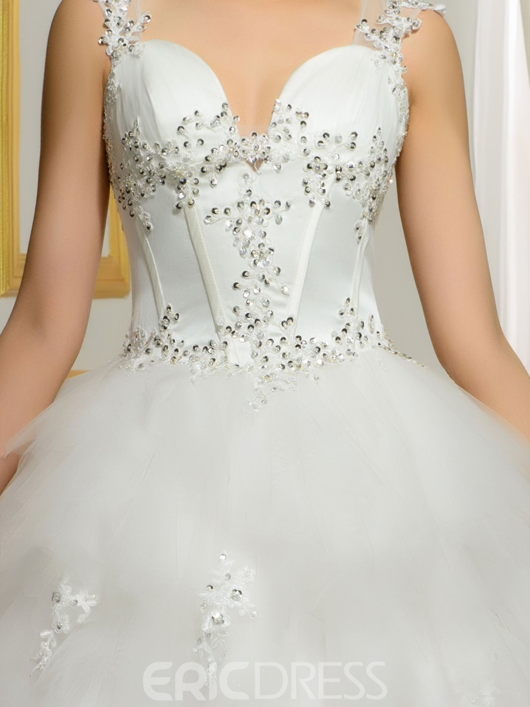 Ericdress Elegant Strapless Ball Gown Tulle Wedding Dress