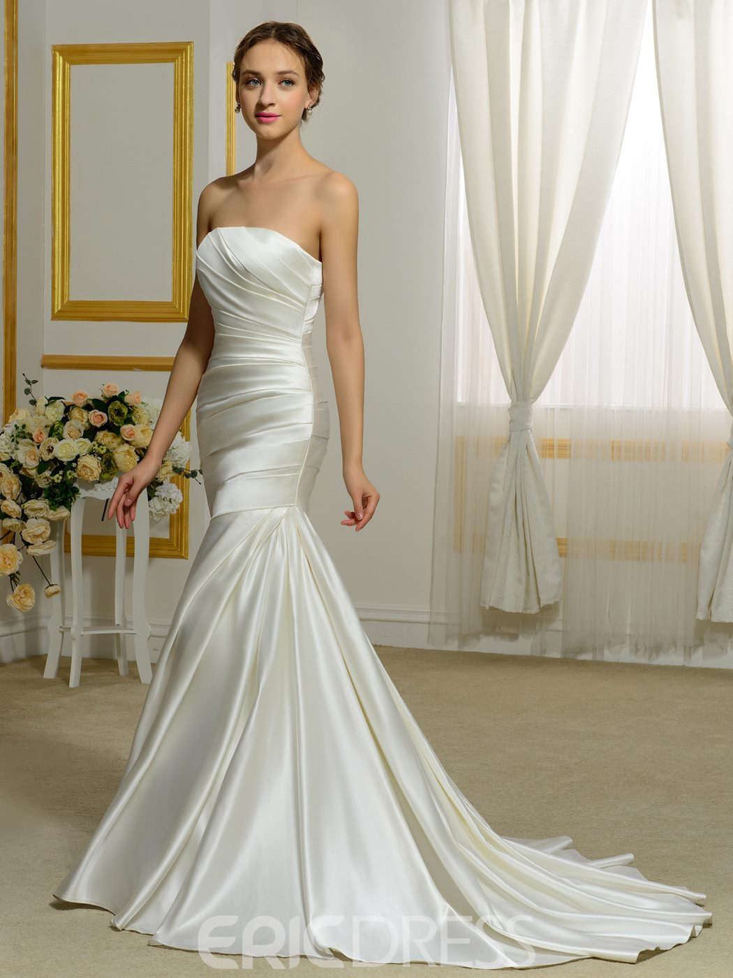 Ericdress High Quality Strapless Mermaid Wedding Dress