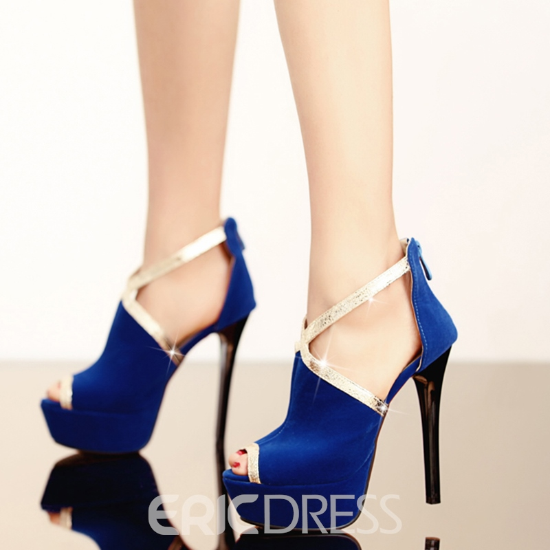 Ericdress Platform Peep Toe Stiletto Heel Women's Pumps