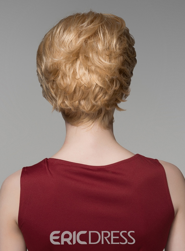 Ericdress New Arrival Short Straight Capless Human Hair Wig 6 Inches