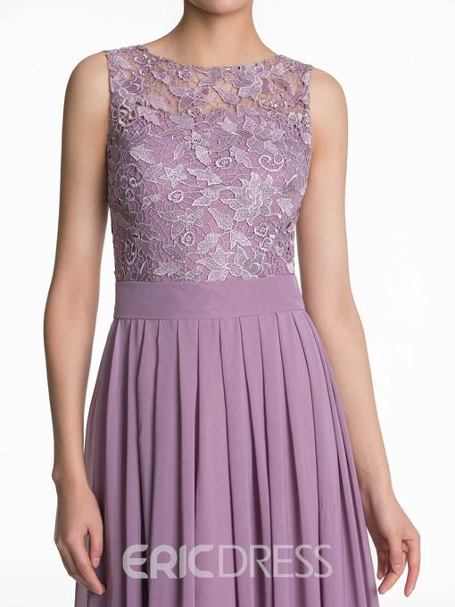 Ericdress Bateau Neck Lace Bridesmaid Dress